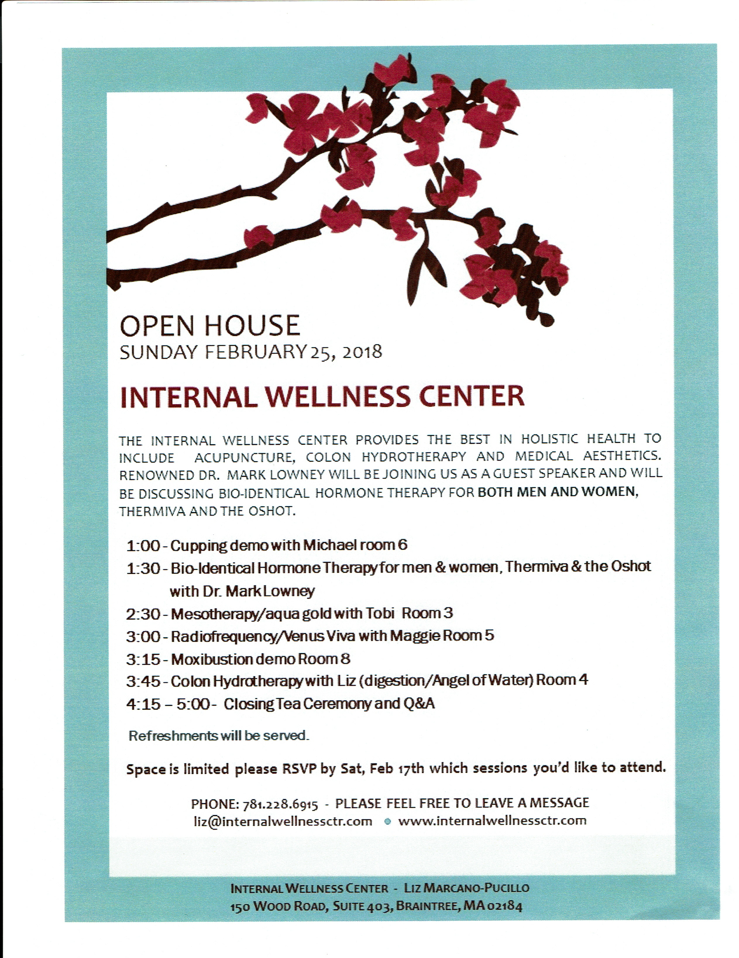 Open House 2/25/18 in Braintree, MA at our Clinic. Come Celebrate the Year of the Dog! @ Life Qi Holistic Medicine
